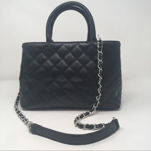 Forever 21 Black Quilted Work Tote d4
